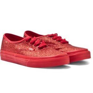 Vans Shoes - Vans ruby red glitter 269dead34